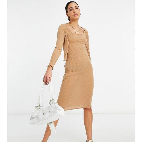 Ensemble côtelé cardigan et robe - New Look Tall - Modalova
