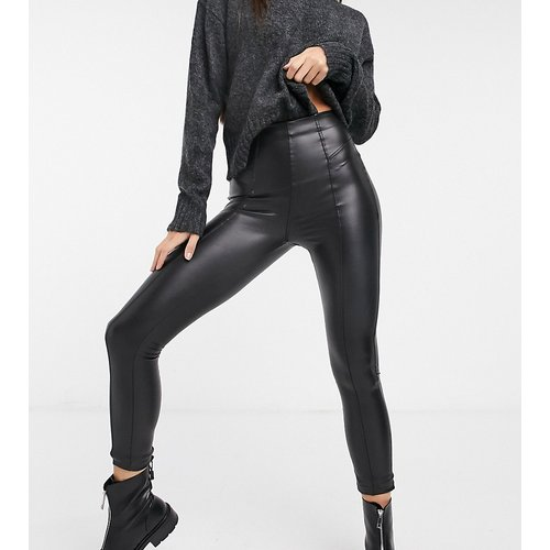 Legging zippé en similicuir - New Look Tall - Modalova