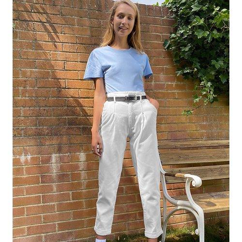 Pantalon volumineux - Taupe - New Look Tall - Modalova