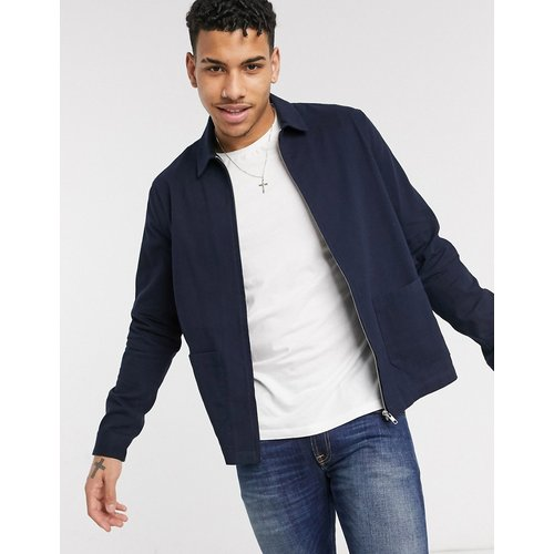 Veste chemise à deux poches - Bleu marine - New Look - Modalova
