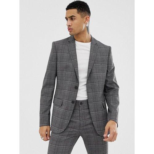 Veste de costume slim à carreaux - New Look - Modalova
