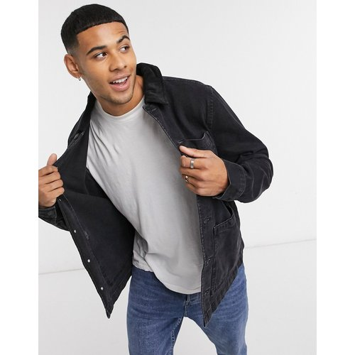 Veste en jean avec col en velours côtelé - New Look - Modalova