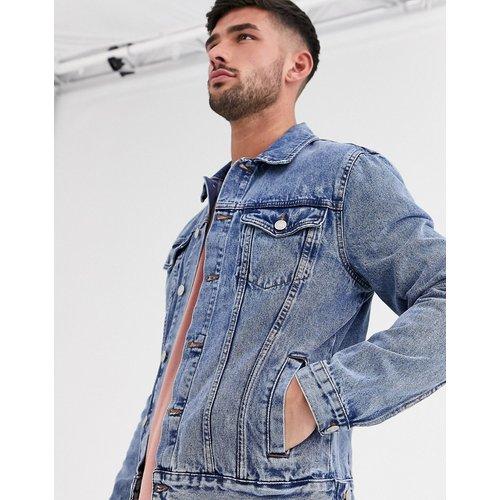 Veste en jean coupe classique - Délavé moyen - New Look - Modalova
