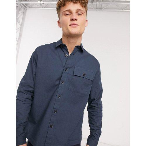 Veste façon chemise en tissu ripstop - Bleu marine - New Look - Modalova