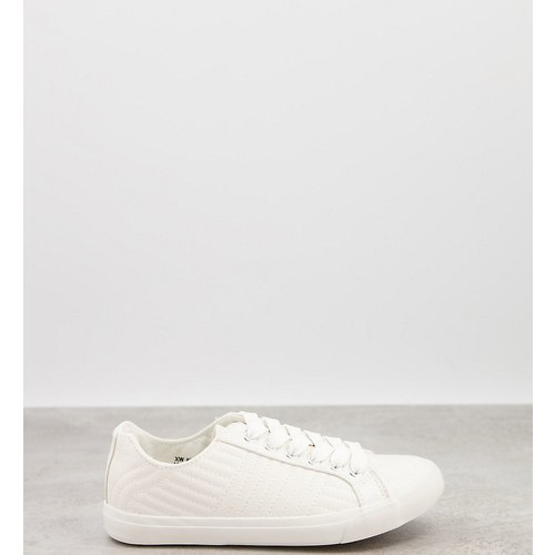Baskets matelassées - New Look Wide Fit - Modalova