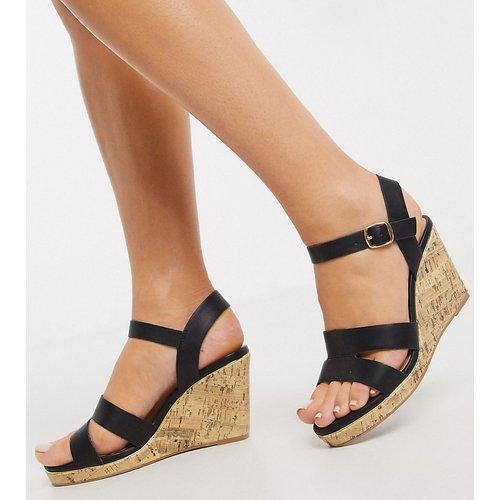 Chaussures compensées à brides - New Look Wide Fit - Modalova