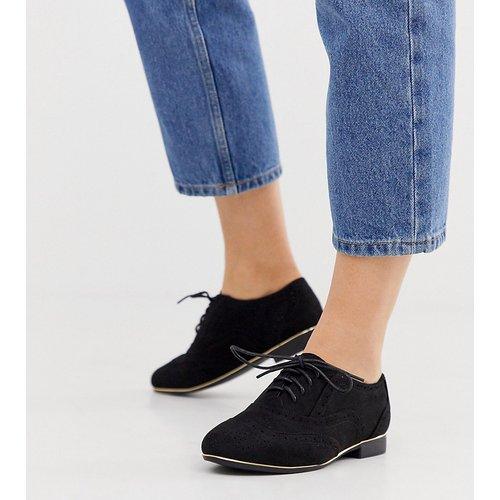 Chaussures richelieu en PU - New Look Wide Fit - Modalova
