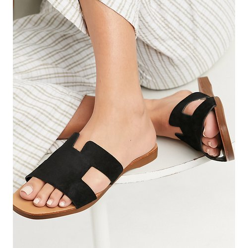 Sandales style mules plates - New Look Wide Fit - Modalova