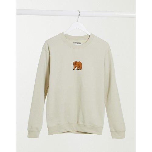 Sweat-shirt oversize à imprimé ours - Sable - New Love Club - Modalova