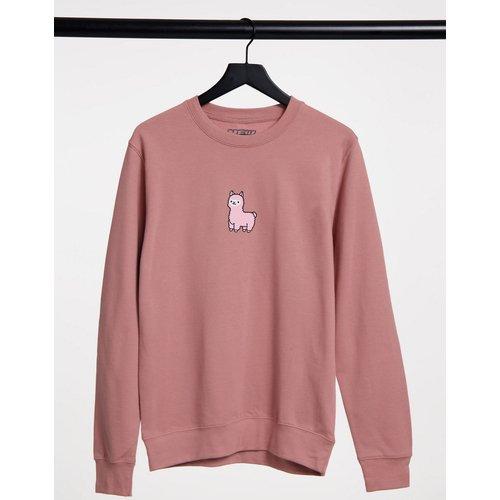 Sweat-shirt oversize imprimé lama - clair - New Love Club - Modalova