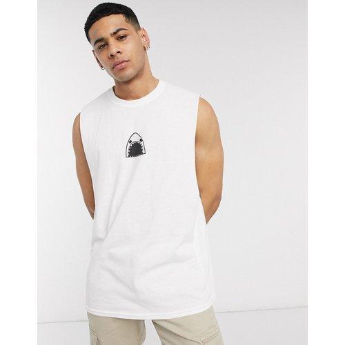 T-shirt oversize sans manches imprimé requin - New Love Club - Modalova