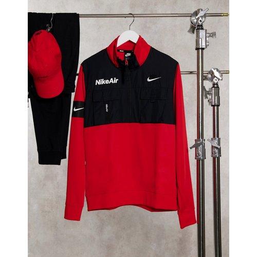 Air - Polaire à demi fermeture à glissière à enfiler - Rouge - Nike - Modalova