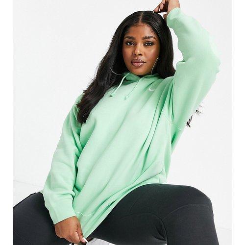 Plus - Hoodie oversize à petit logo en forme de virgule - Vert - Nike - Modalova