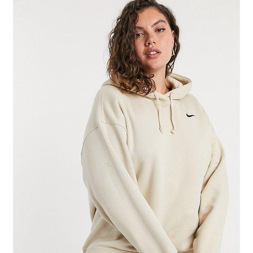 Plus - Hoodie oversizeà petit logo- Avoine - Nike - Modalova