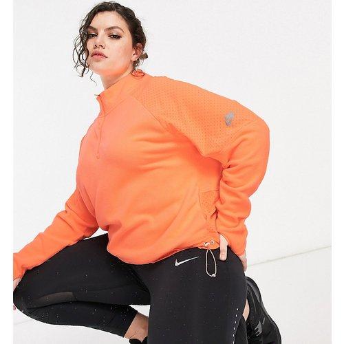 Air Plus - Top de sous-vêtement avec demi-fermeture éclair - Pêche - Nike Running - Modalova