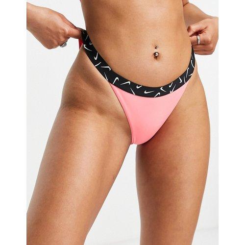 Swoosh - Bas de bikini avec bande élastiquée à logo virgule - Nike Swimming - Modalova