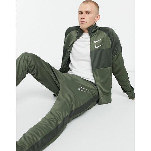 Veste de survêtement zippée à logo en maille de polyester - Kaki - Nike - Modalova