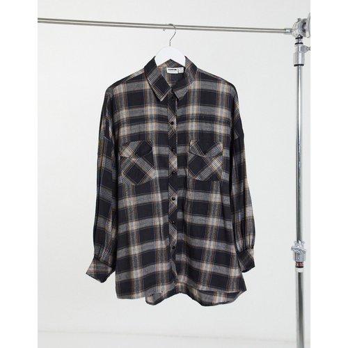 Chemise oversize à carreaux - Noir - Noisy May - Modalova