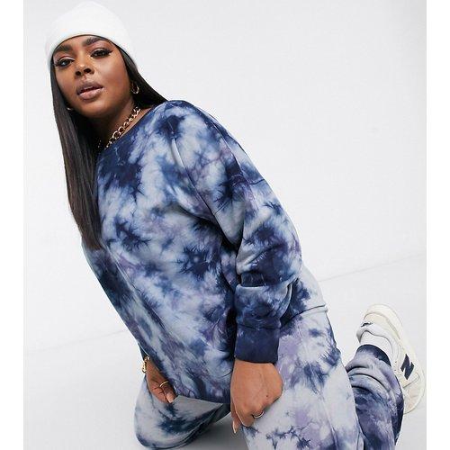 Exclusivité - Sweat-shirt d'ensemble effet tie-dye - Bleu - Noisy May Curve - Modalova