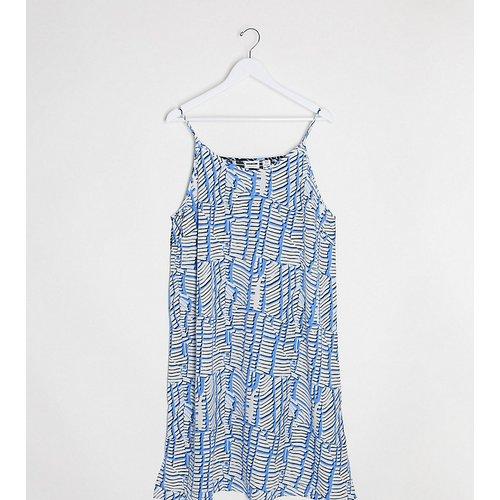 Robe caraco mi-longue à imprimé divisé - Bleu - Noisy May Curve - Modalova