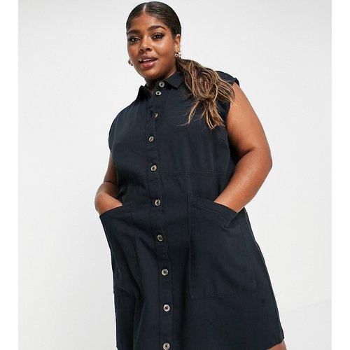 Robe chemise courte en denim - Noisy May Curve - Modalova