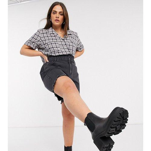 Short en jean long avec taille haute froncée - Noisy May Curve - Modalova