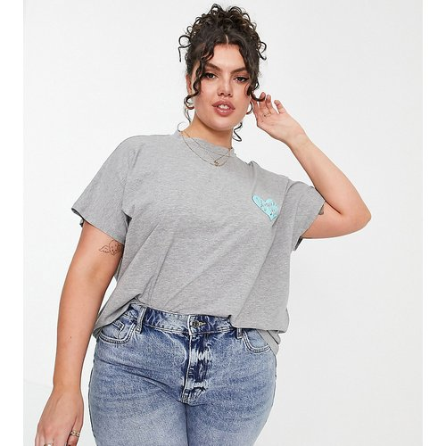 T-shirt en coton biologique à message «Your Loss» - Noisy May Curve - Modalova