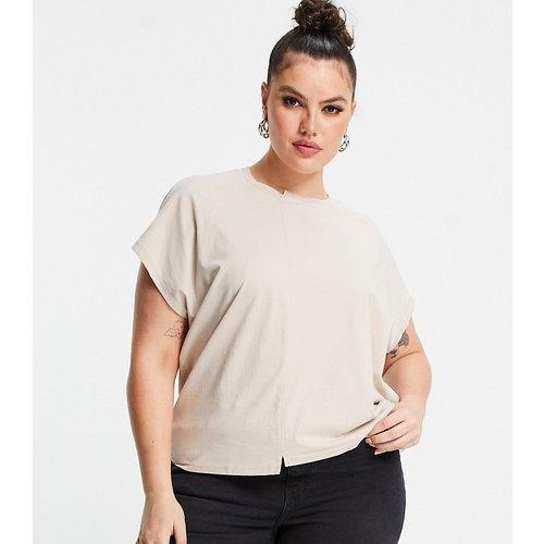 T-shirt - Taupe - Noisy May Curve - Modalova