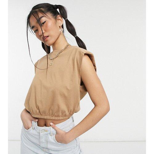 Exclusivité - Crop top à épaulettes - Camel - Noisy May - Modalova