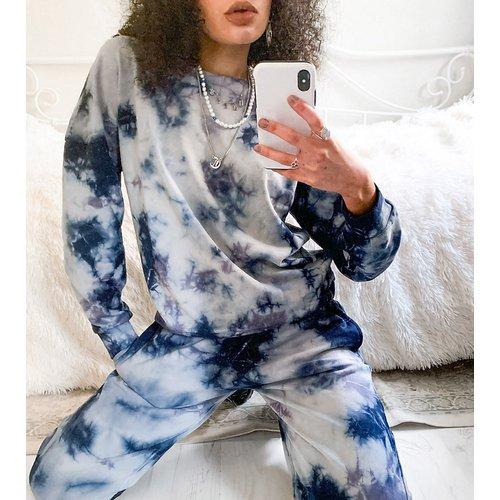 Exclusivité - Sweat-shirt d'ensemble effet tie-dye - Bleu et blanc - Noisy May - Modalova