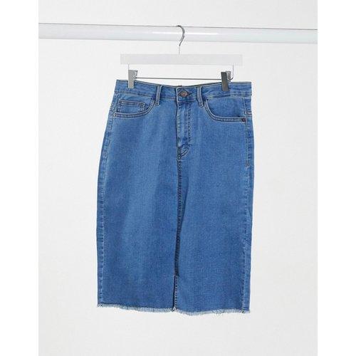 Jupe en jean taille haute à ourlet brut - moyen - Noisy May - Modalova