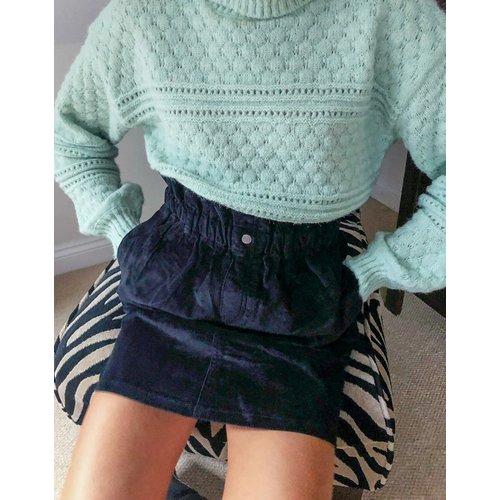 Mini-jupe en velours côtelé à taille froncée - Noisy May - Modalova