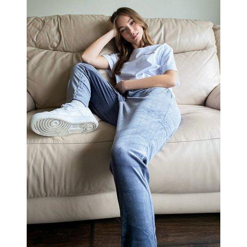 Pantalon de jogging coupe slim en velours (ensemble) - Gris - Noisy May - Modalova