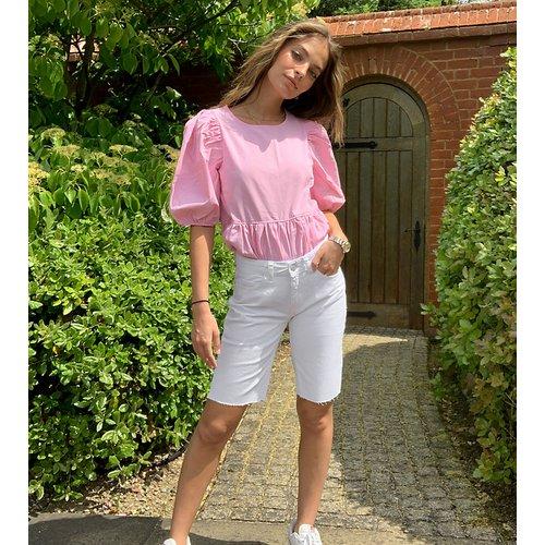 Short long en jean - Noisy May Petite - Modalova
