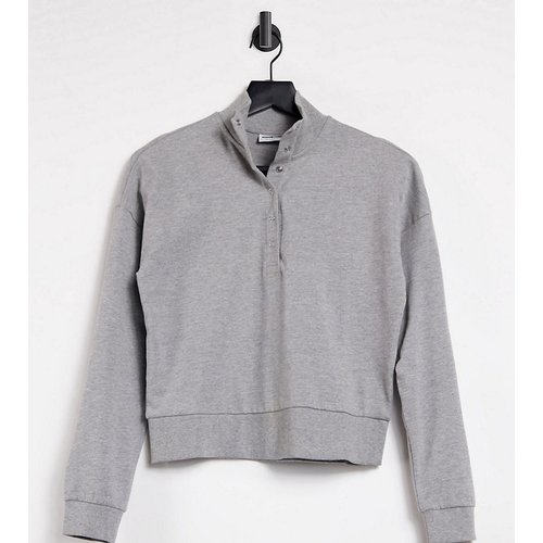 Sweat-shirt col montant à boutons-pression - clair - Noisy May Petite - Modalova