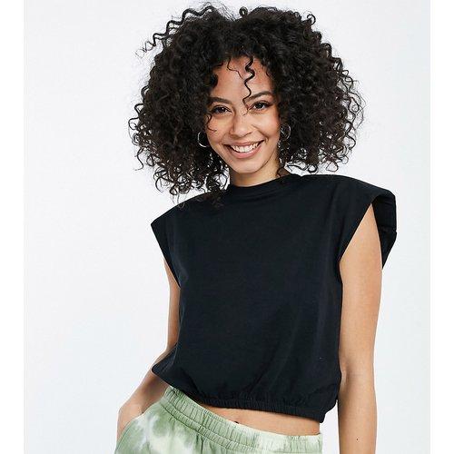 T-shirt crop top à épaulettes - Noisy May Tall - Modalova