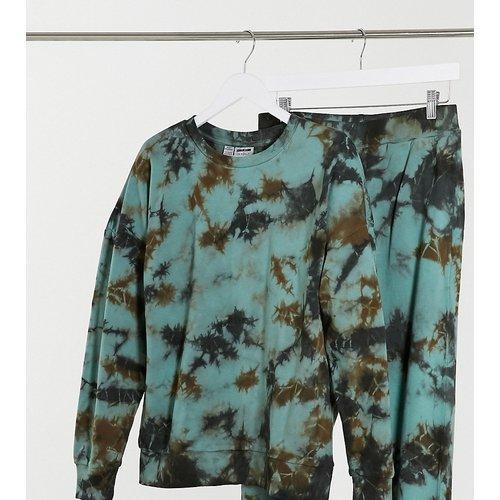Exclusivité - Sweat-shirt d'ensemble effet tie-dye - Vert et noir - Noisy May Tall - Modalova