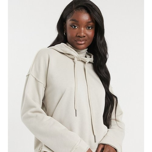 Hoodie col montant à coutures apparentes - Taupe - Noisy May Tall - Modalova