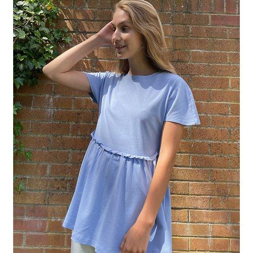 T-shirt froncé - pastel - Noisy May Tall - Modalova