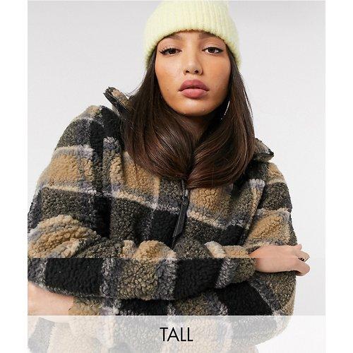 Veste teddy à carreaux - Noisy May Tall - Modalova