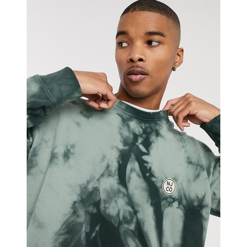 Co - Lukas - Sweat-shirt ras de cou à logo cercle effet tie-dye - pâle - Nudie Jeans - Modalova