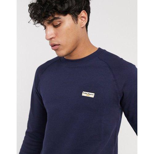 Co - Samuel - Sweat-shirt avec logo - Bleu marine - Nudie Jeans - Modalova