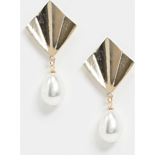Boucles d'oreilles avec perle fantaisie - Nylon - Modalova