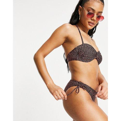 Bas de bikini plissé à pois - Oasis - Modalova