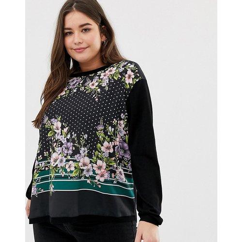 Oasis Curve - Sweat-shirt tissé à fleurs - Oasis Plus - Modalova