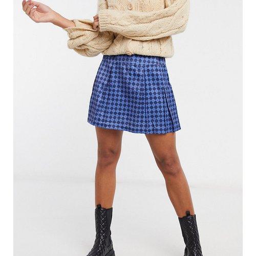 Mini-jupe plissée à losanges - One Above Another - Modalova