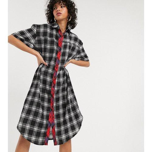 Robe chemise à carreaux variés style 90's grunge - One Above Another - Modalova