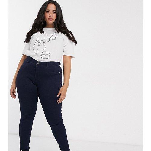 Jean skinny taille haute - délavé foncé - Only Curve - Modalova