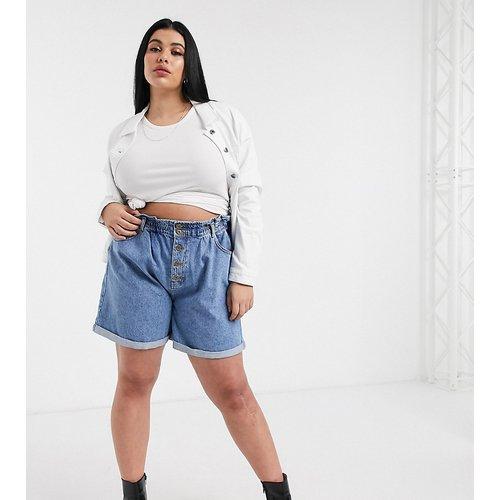 Short en jean à taille froncée - Only Curve - Modalova