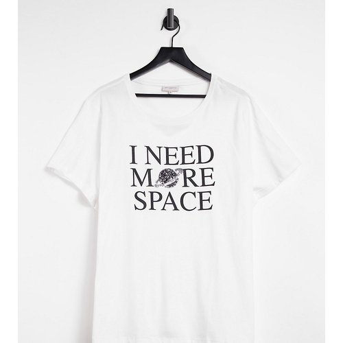 T-shirt à inscription « Need More Space » - Only Curve - Modalova